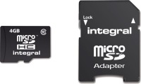 Integral Micro SDHC (with Adaptor) 4GB Card (Class 10)