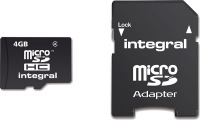 Integral Micro SDHC (with Adaptor) 4GB Card (Class 4)