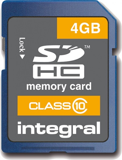 Integral SDHC Card 4GB Card (Class 10)