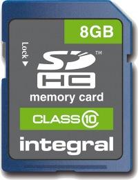 Integral SDHC 8GB Card (Class 10)
