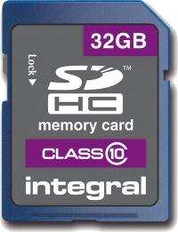 Integral SDHC 32GB Card (Class 10)