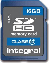 Integral SDHC 16GB Card (Class 10)