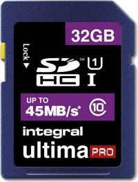 Integral SDHC 32GB Card (Class 10 - 45MB/s)