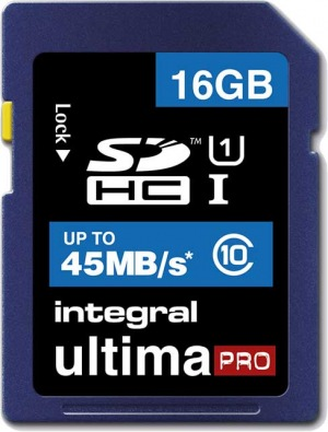 Integral SDHC 16GB Card (Class10 - 45MB/s)