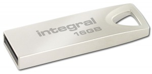 Integral Metal ARC USB 2.0 Flash Drive 16GB