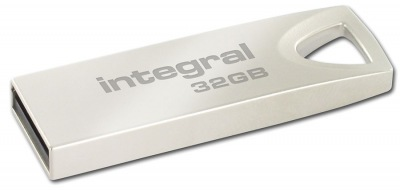Integral Metal ARC USB 2.0 Flash Drive 32GB