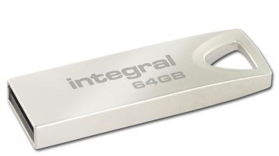 Integral Metal ARC USB 2.0 Flash Drive 64GB