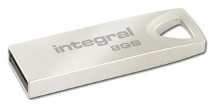 Integral Metal ARC USB 2.0 Flash Drive 8GB