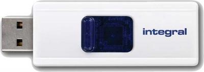 Integral Slide USB Drive 32GB (White)