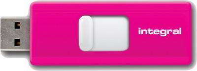 Integral Slide USB Drive 16GB (Pink)
