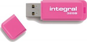Integral Neon USB Drive 32GB Drive (Pink)