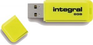Integral Neon USB Drive 8GB Drive (Yellow)