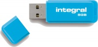 Integral Neon USB Drive 8GB Drive (Blue)