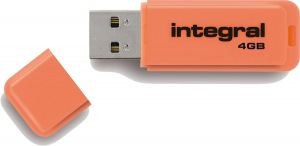 Integral Neon USB Drive 4GB Drive (Orange)