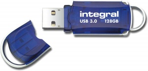 Integral Courier USB 3.0 Flash Drive 128GB Drive