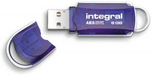 Integral Courier Drive Encrypted USB - (FIPS 197) 8GB Drive