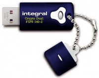 Integral Crypto Dual FIPS 140-2 Encrypted USB Drive 8GB