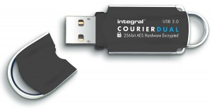 Integral Courier Dual FIPS 197 Encrypted USB 3.0 Drive 32GB