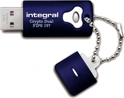 Integral Crypro Dual Drive Encrypted USB - (FIPS 197) 8GB Drive
