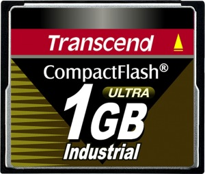 Transcend Industrial Ultra Compact Flash 1GB Card (100x)