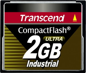 Transcend Industrial Ultra Compact Flash 2GB Card (100x)