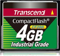 Transcend Industrial Ultra Compact Flash 4GB Card (200x)