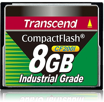 Transcend Industrial Ultra Compact Flash 8GB Card (200x)