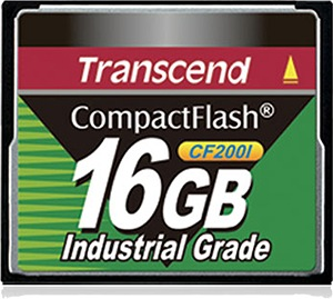 Transcend Industrial Ultra Compact Flash 16GB Card (200x)