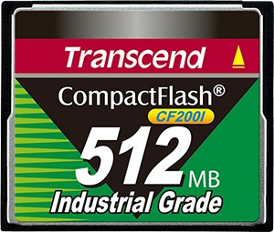 Transcend Industrial Ultra Compact Flash 512MB Card (200x)