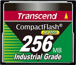 Transcend Industrial Ultra Compact Flash 256MB Card (200x)