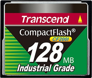 Transcend Industrial Ultra Compact Flash 128MB Card (200x)
