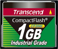 Transcend Industrial Ultra Compact Flash 1GB Card (200x)