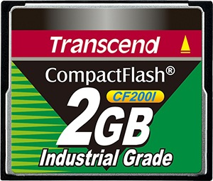 Transcend Industrial Ultra Compact Flash 2GB Card (200x)