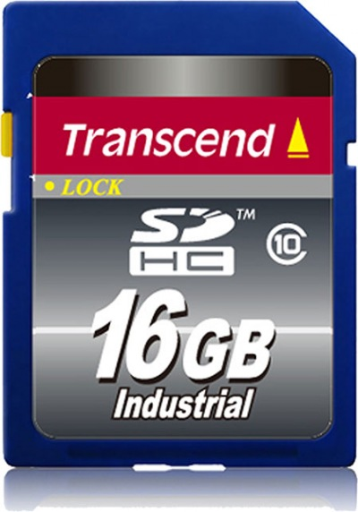 Transcend Industrial Temp SDHC Class 10 16GB Card