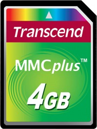 Transcend MultiMedia Card Plus 4GB Card
